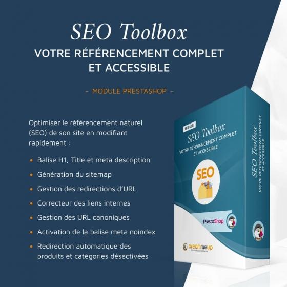 SEO Toolbox, module seo Prestashop complet
